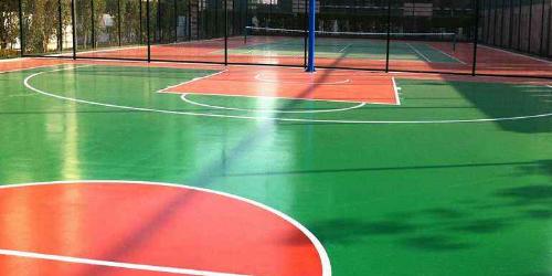 硅PU篮球场面层施工质量控制要点